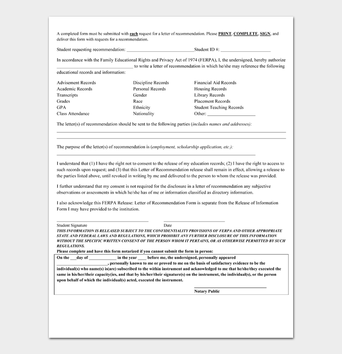 Recommendation Letter for Scholarship Template #05