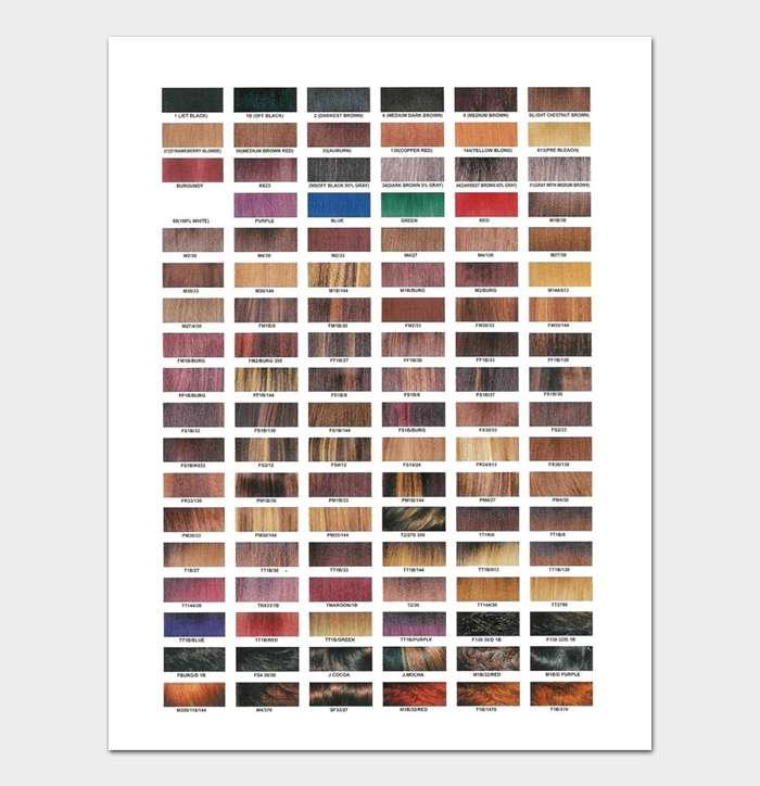 Redken Shades EQ Color Chart #18