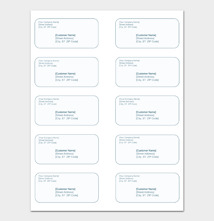 Shipping Label Template #02