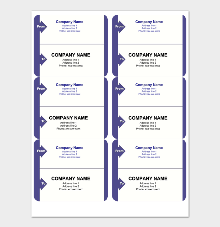 Shipping Label Template #04