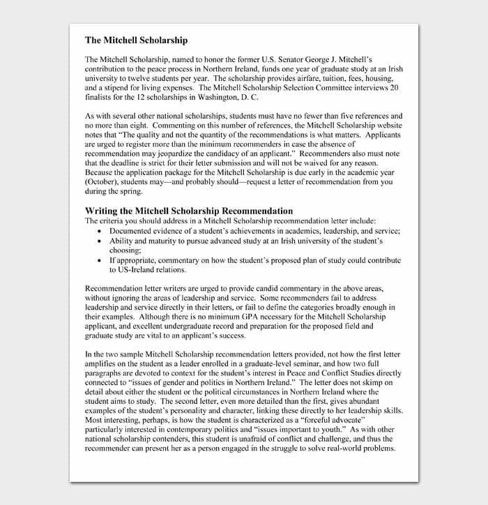 The Mitchell Scholarship