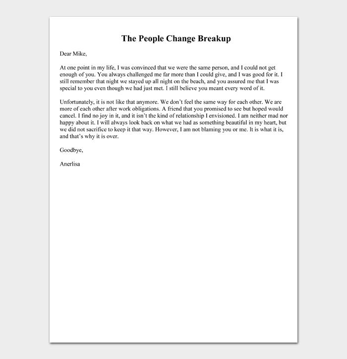 The People Change Breakup