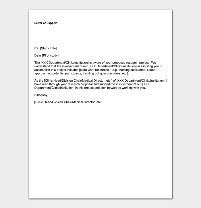 letter of support examples #01
