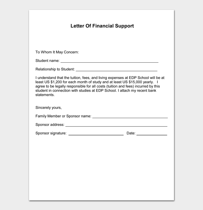 letter of support examples #03