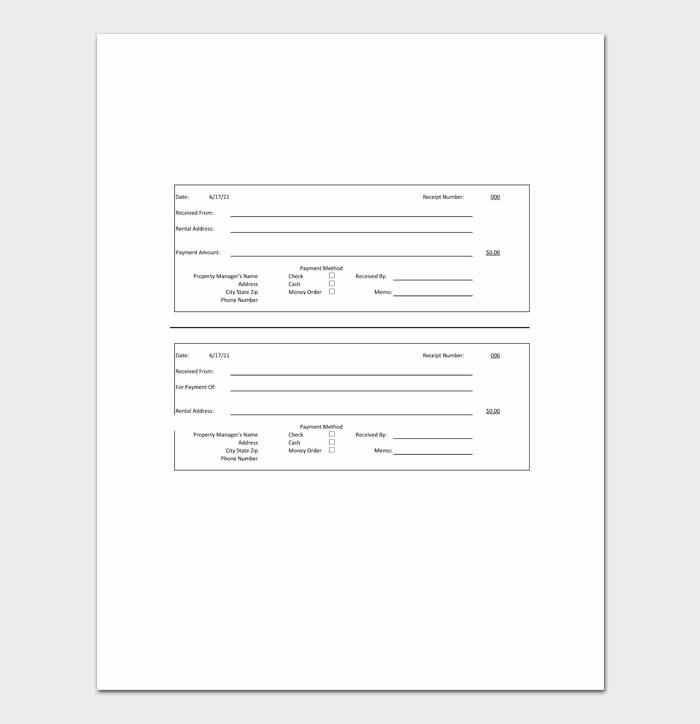 04 Excel Receipt Templates