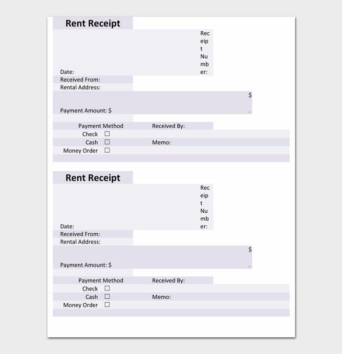 08 Rent Receipt template