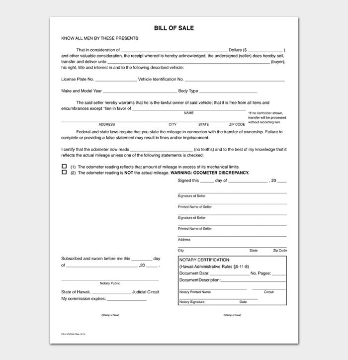 Bill of Sale Main #11