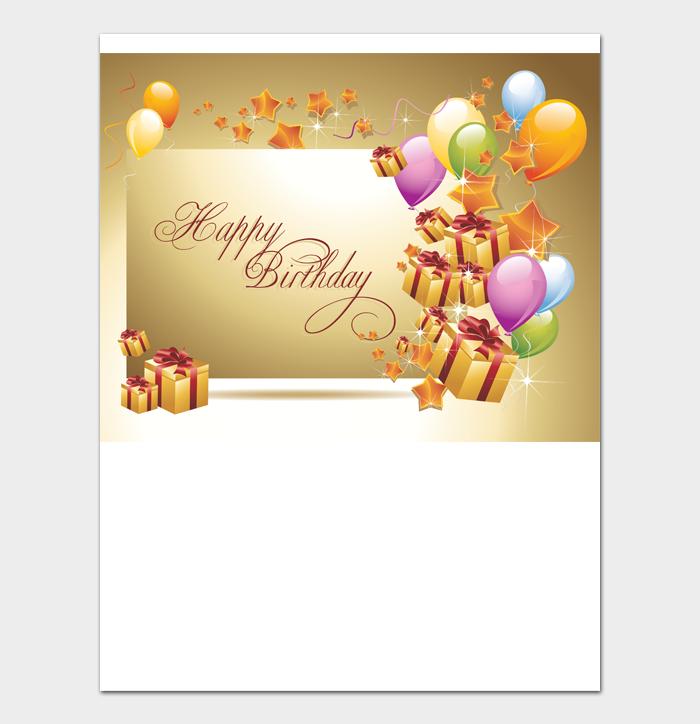 Birthday Card Template #01
