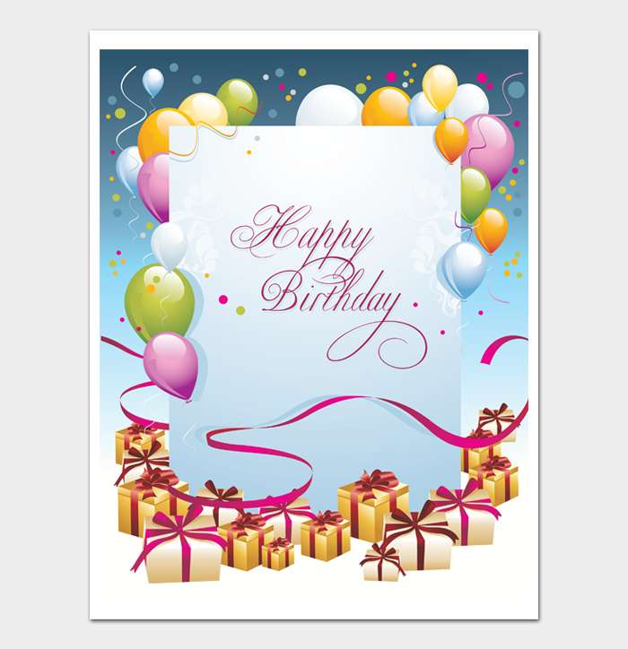 Birthday Card Template #02