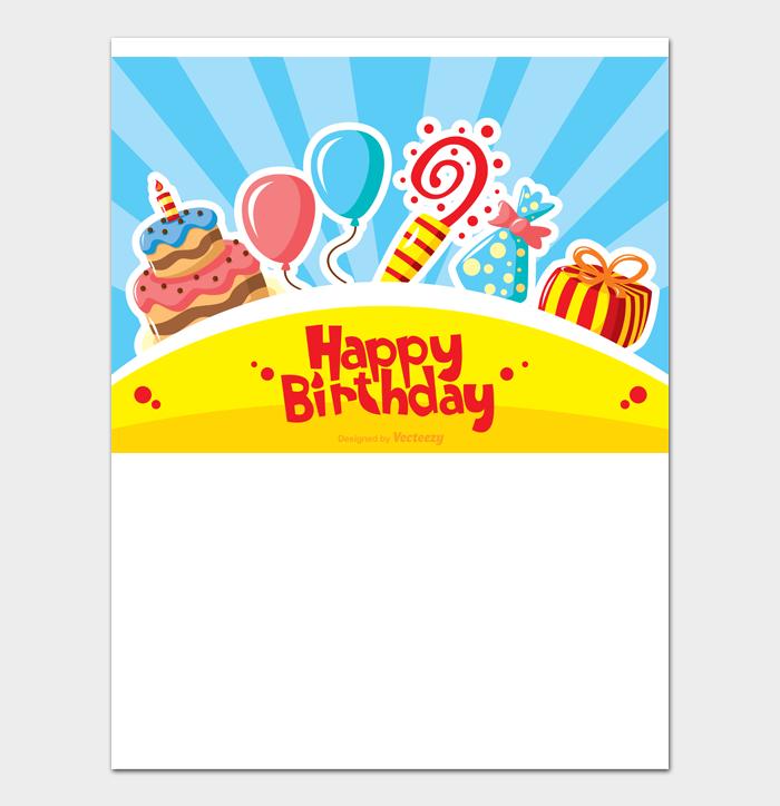 Birthday Card Template #03