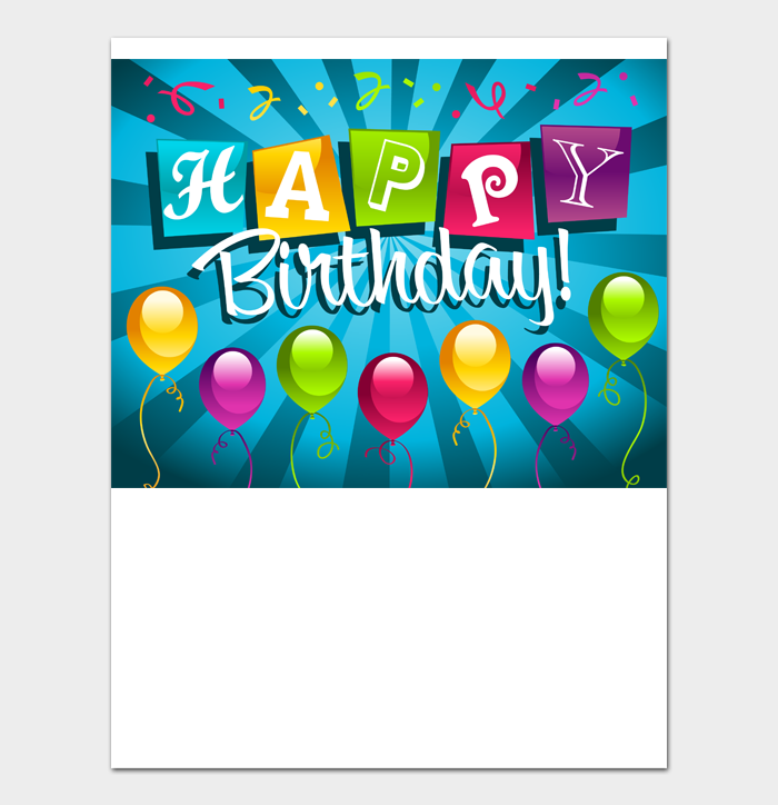 Birthday Card Template #04