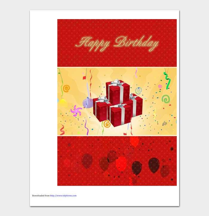 Birthday Card Template #05
