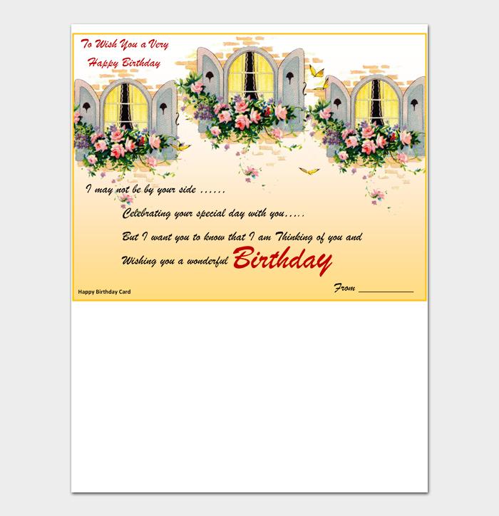 Birthday Card Template #06