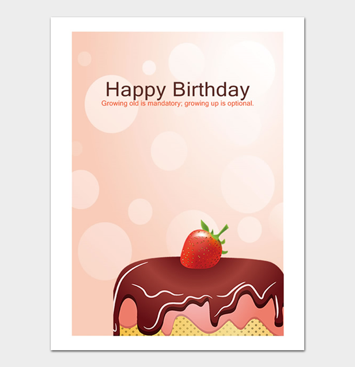 Birthday Card Template #07