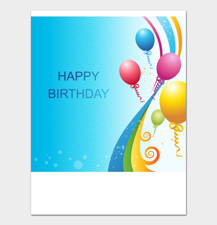 Birthday Card Template #08