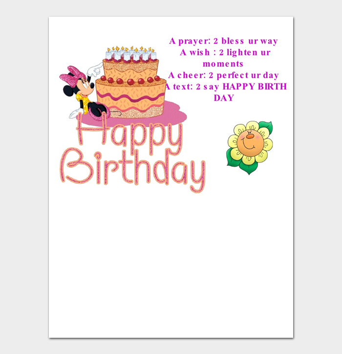 Birthday Card Template #09