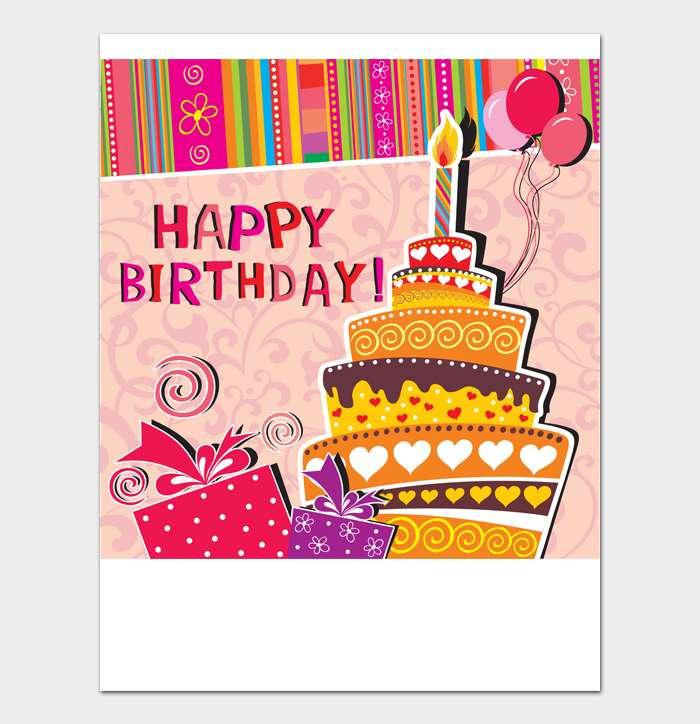 Birthday Card Template #12