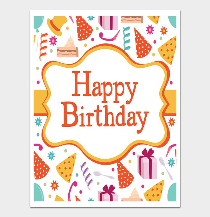 Birthday Card Template #14