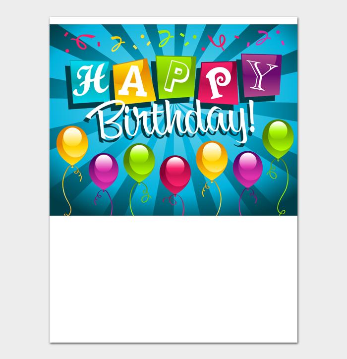 Birthday Card Template #15