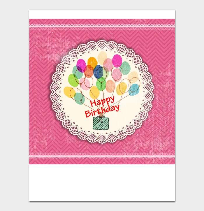 Birthday Card Template #18