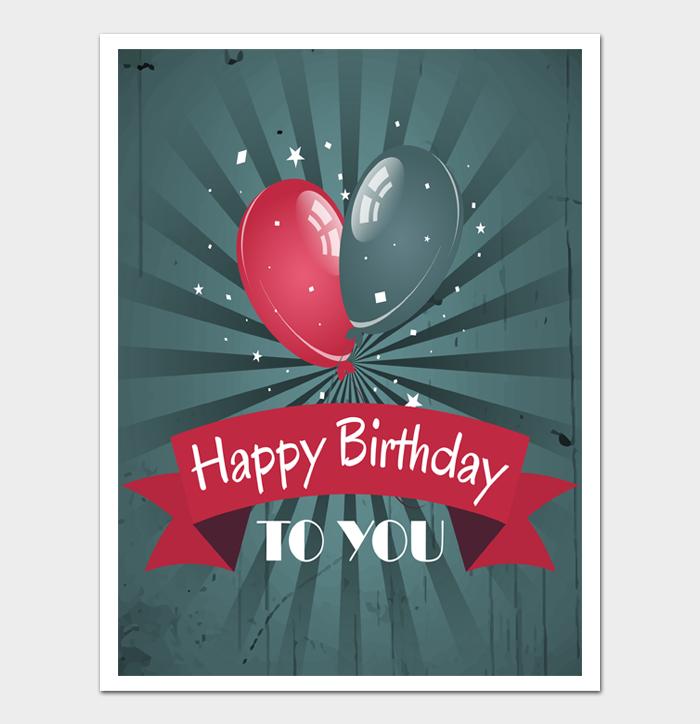 Birthday Card Template #19