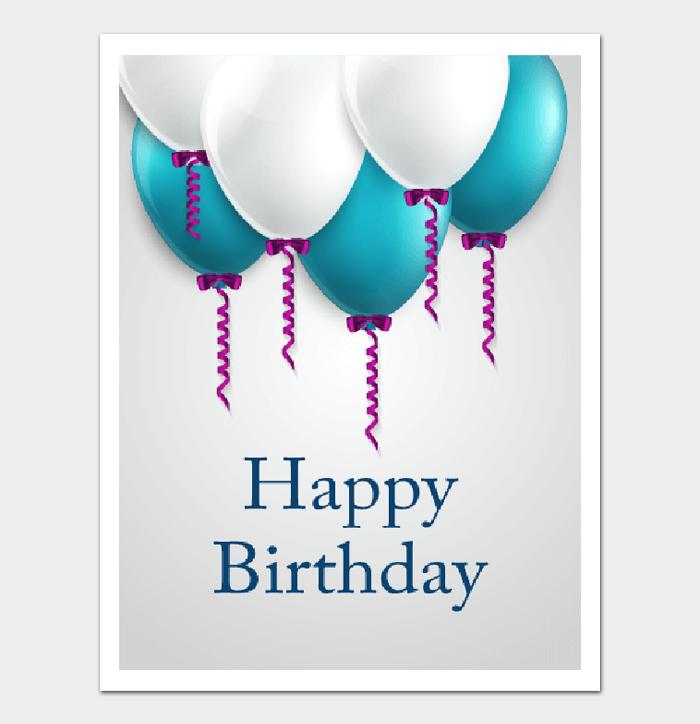 Birthday Card Template #20