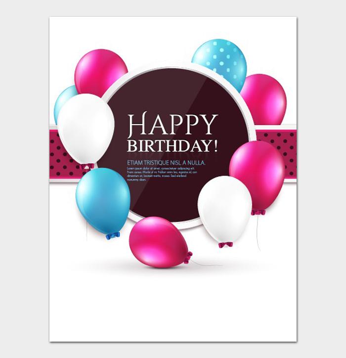 Birthday Card Template #21