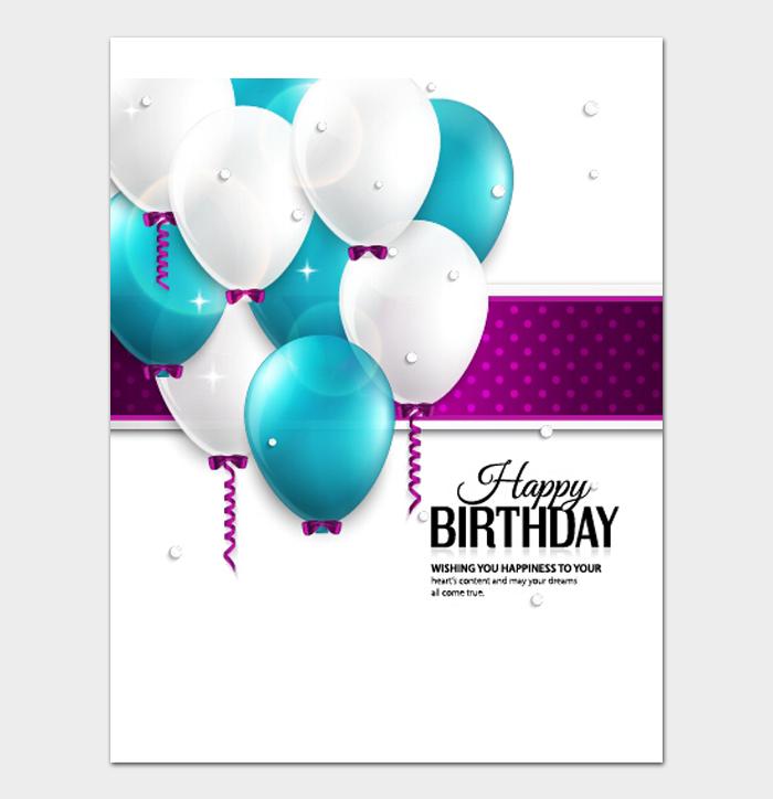 Birthday Card Template #22