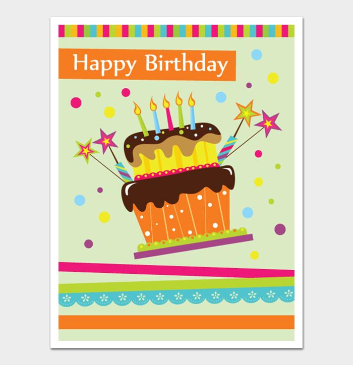 Birthday Card Template #23