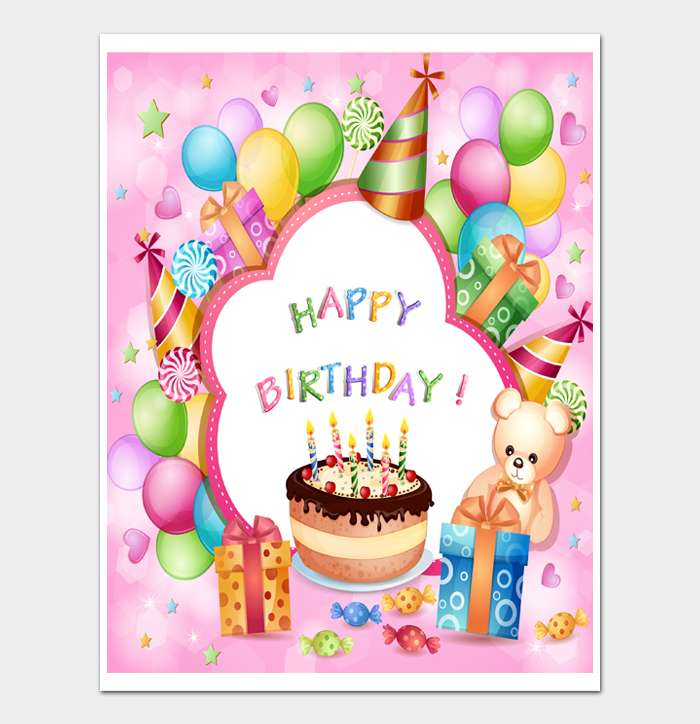 Birthday Card Template #24
