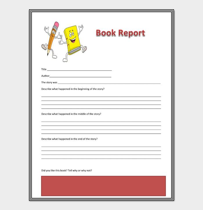 Book Report Template #01
