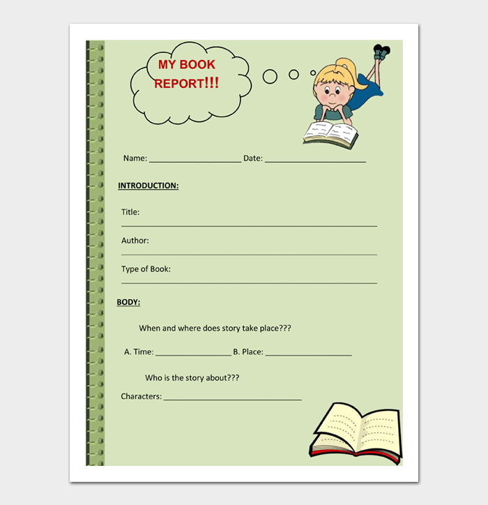Book Report Template #04