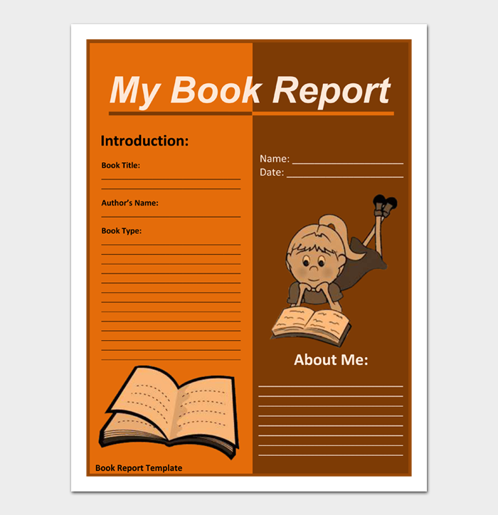 Book Report Template #05