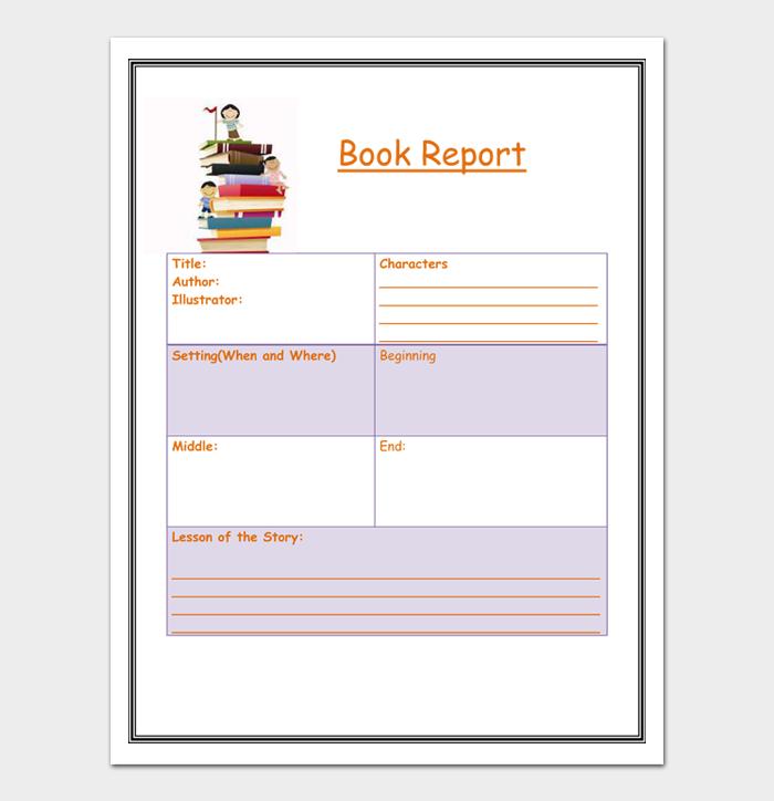 Book Report Template #09