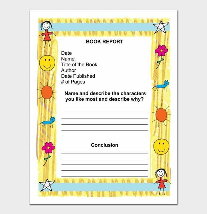 Book Report Template #11