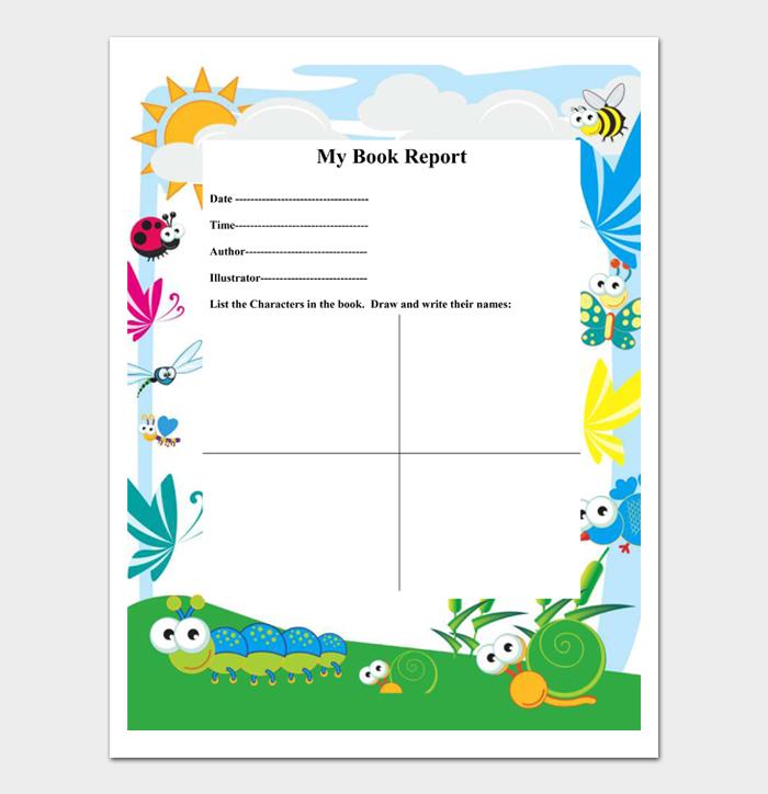 Book Report Template #12