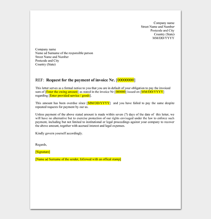Business Letter Format #03