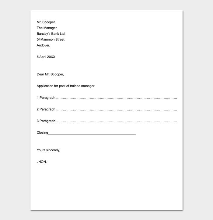 Business Letter Format #05