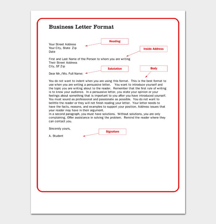 Business Letter Format #06