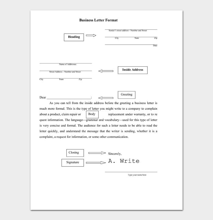 Business Letter Format #08