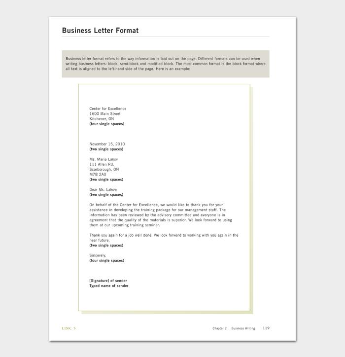 Business Letter Format #09
