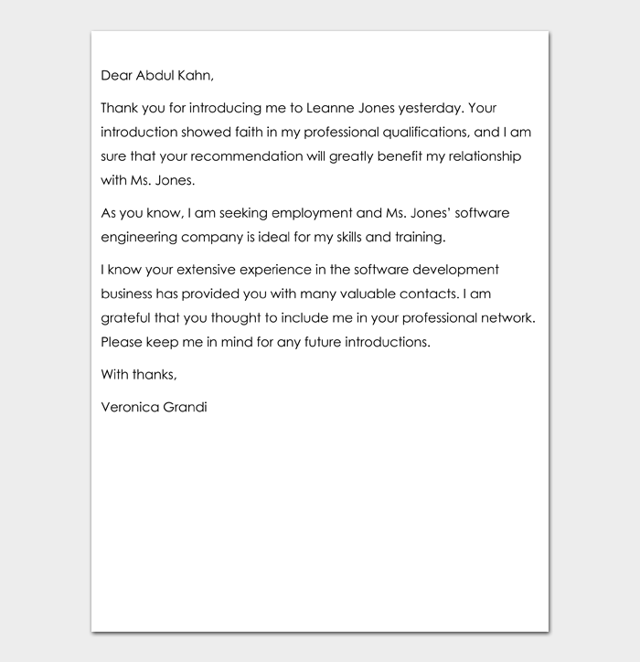 Business Thank You Letter #11