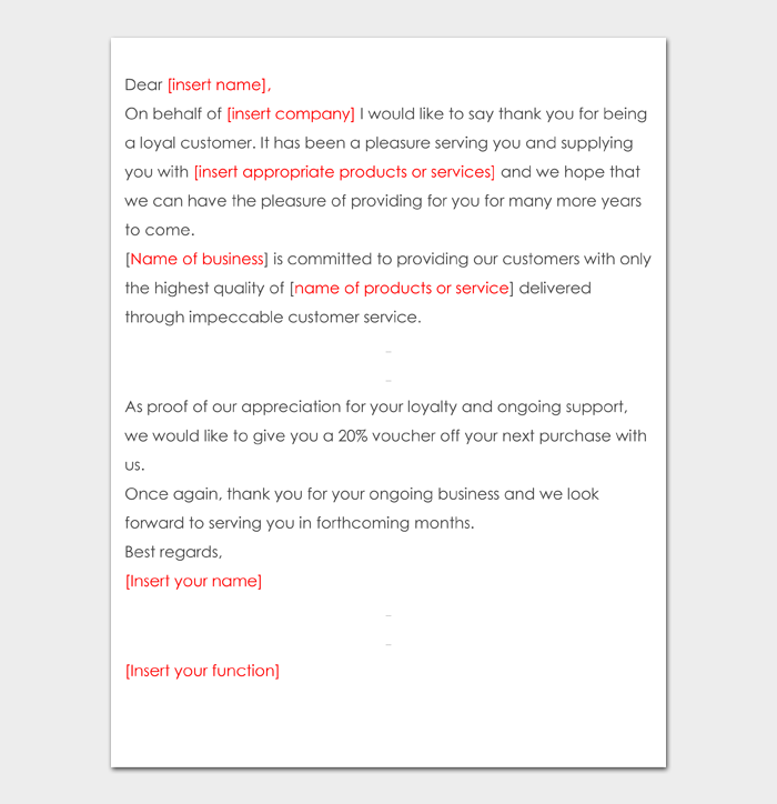 Business Thank You Letter #14