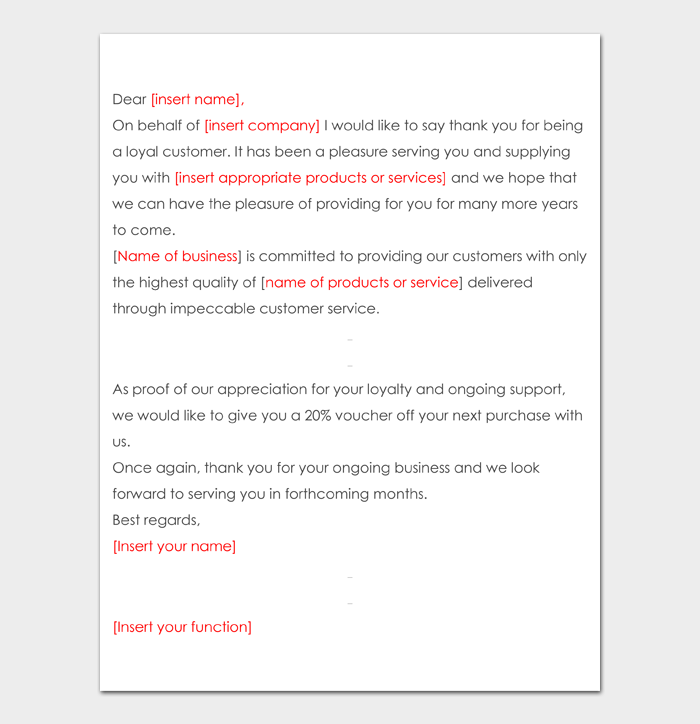 Business Thank You Letter #17