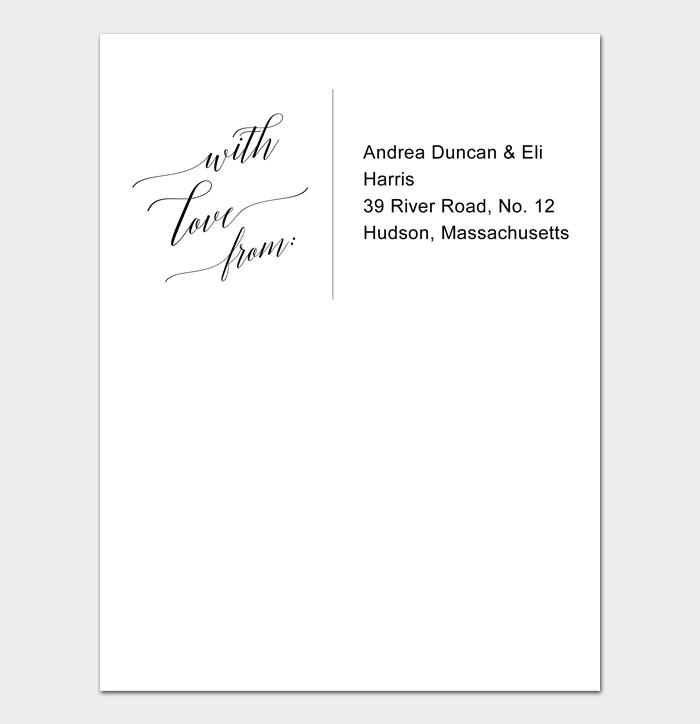 Envelope Address Template #01