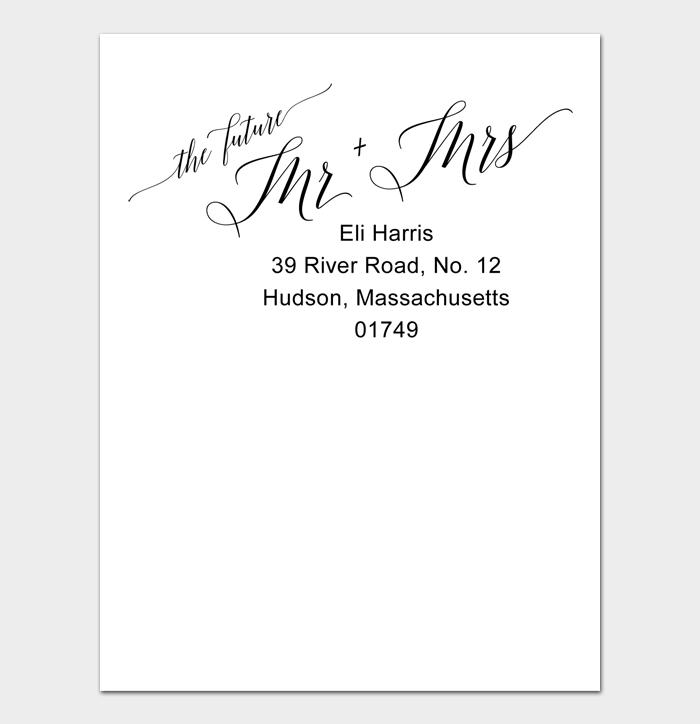 Envelope Address Template #02