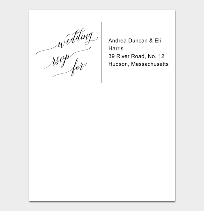 Envelope Address Template #04