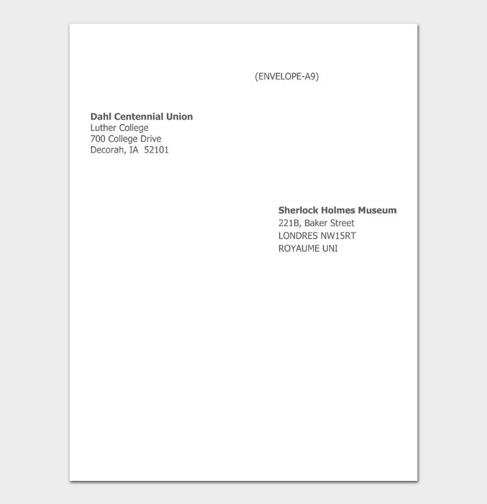 Envelope Address Template #06
