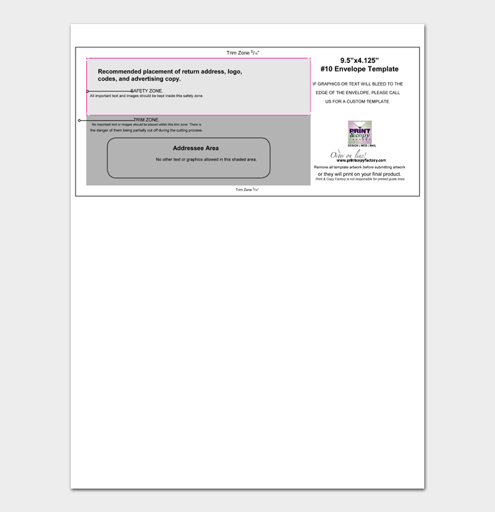Envelope Address Template #12