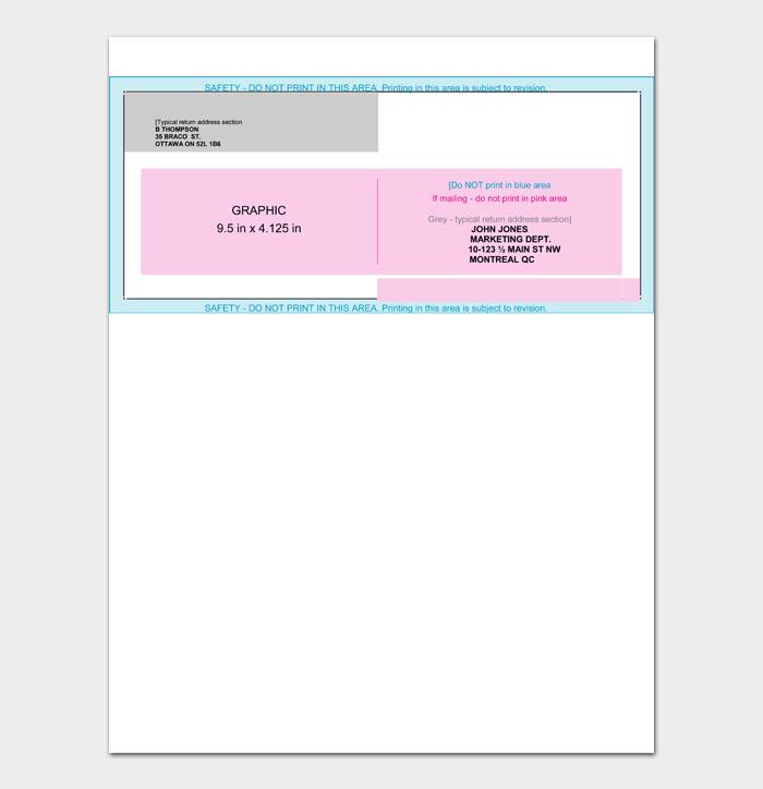 Envelope Address Template #14